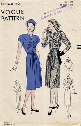 Vogue_pattern_1940s
