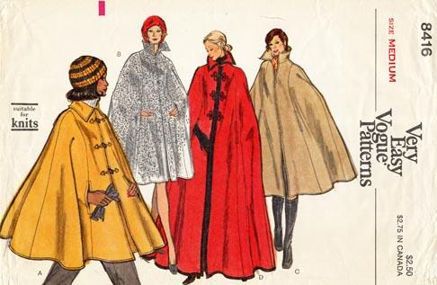 Vogue_8416_70s_cape
