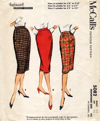 Mccall_5082_mad_men_skirt
