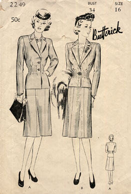 Butterick_2249_1940s_suit