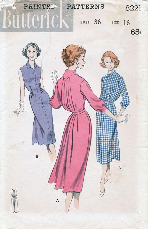Butterick-8221?1950s